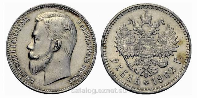 Рубль 1902 года